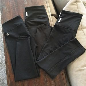 Two Pairs of Zella&One Pair of Fabletics Leggings
